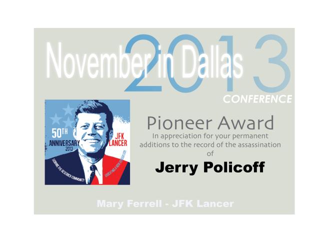 2013 Pioneer Award