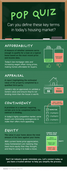 Pop Quiz: Can You Define These Key Terms in Today's Housing Market? [INFOGRAPHIC] | MyKCM