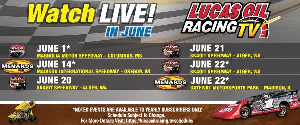 Three Action-Packed Racing Series' Headline Lucas Oil Racing
