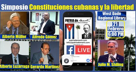 Invitación Simposio Constituciones cubanas y la libertad