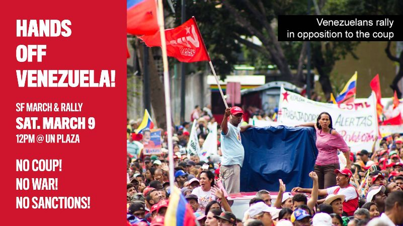 Hands Off Venezuela! Rally and March @ UN Plaza