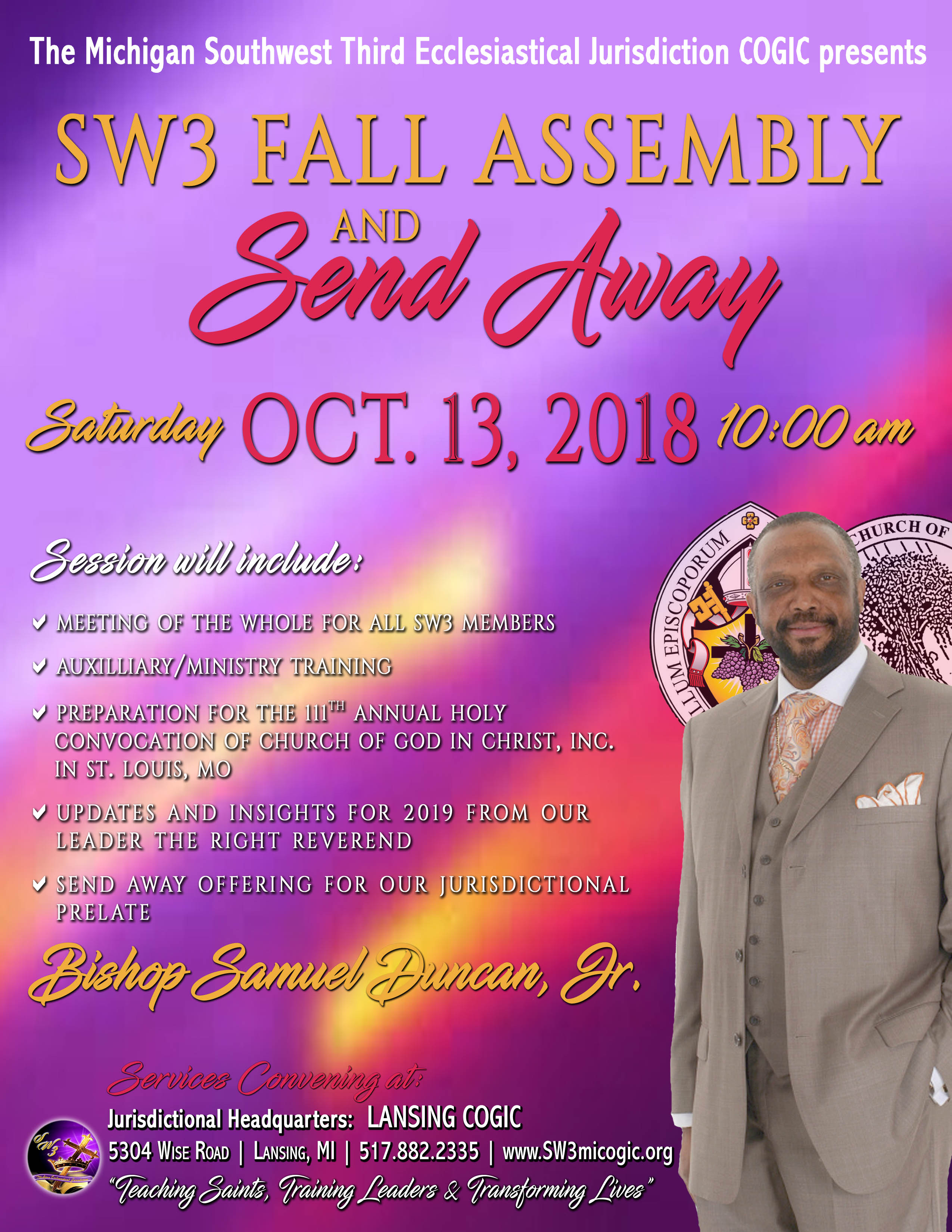 Lansing COGIC, SW3 & the Holy Convocation Happenings