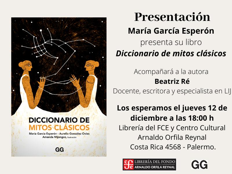 Flyer de presentación - Diccionario de mitos clásicos