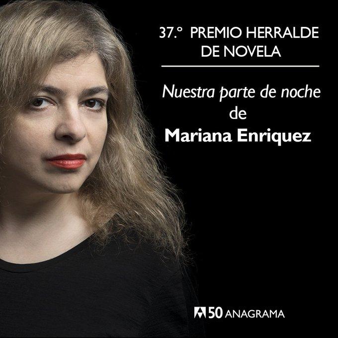 Mariana Enriquez, ganadora del Premio Herralde de Novela