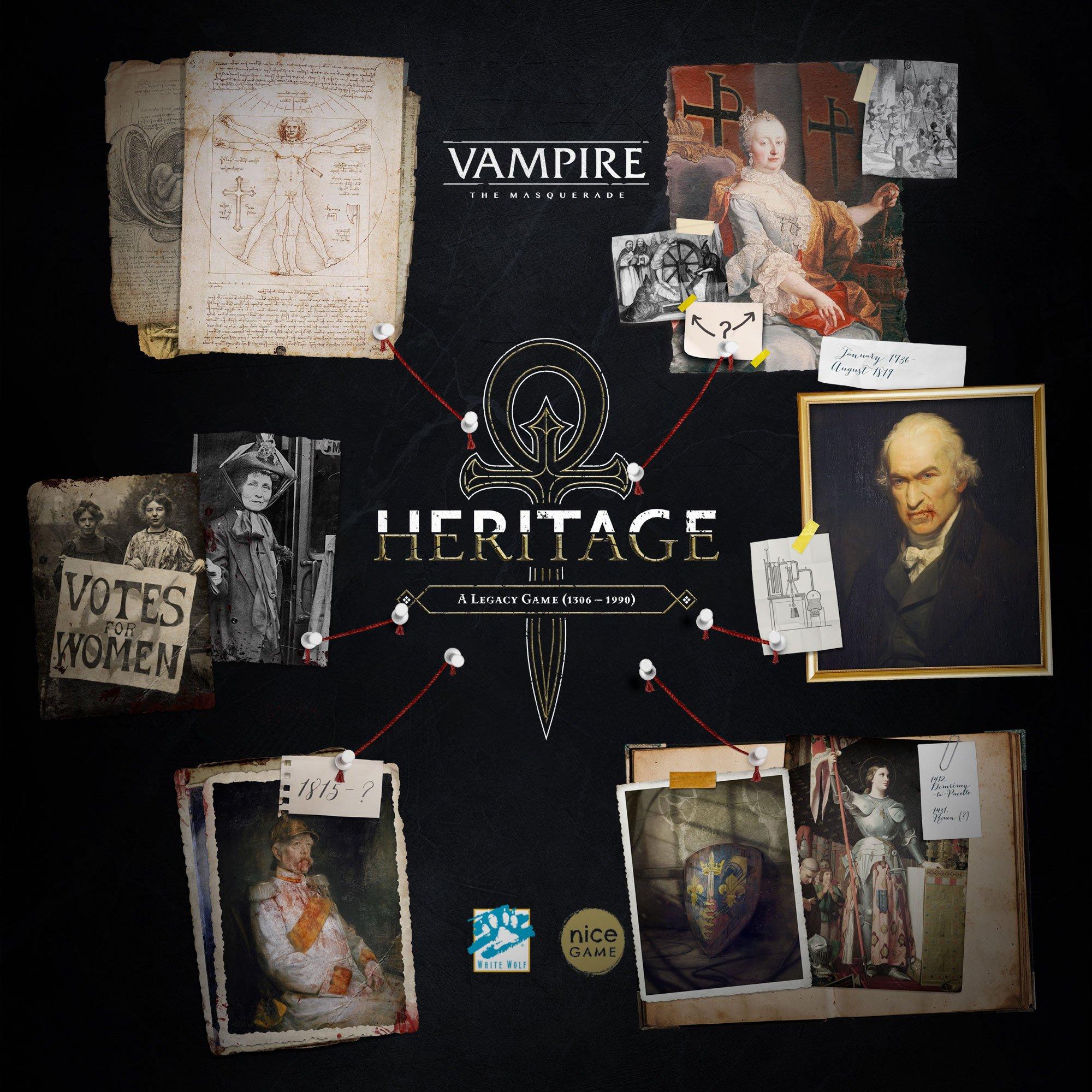 VAMPIRE: THE MASQUERADE – HERITAGE BOARD GAME – Tessera Guild