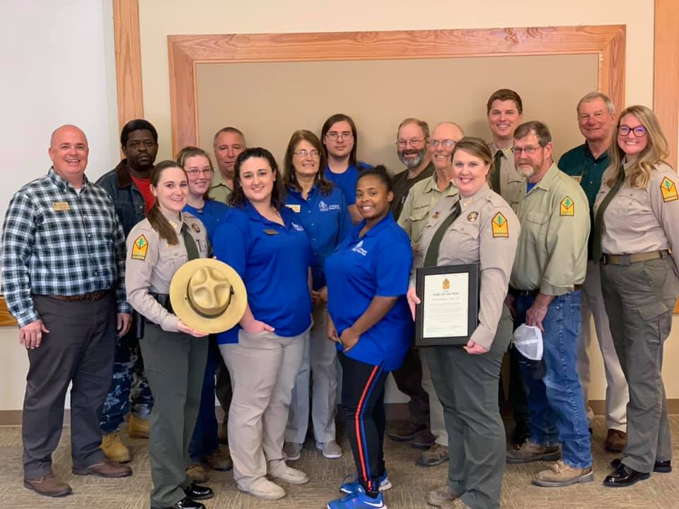 Mississippi River State Park Park of the Year Award Staff