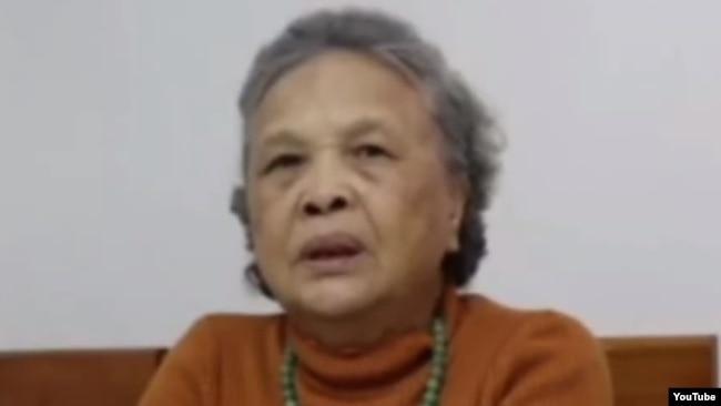 Bà Trần Thị Niêm, mẹ của                                         nhà báo tự do Lê Anh Hùng. Photo                                         YouTube via The 88 Project.