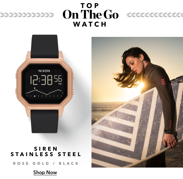 Top On The Go Watch Siren Stainless Steel, Shop Now