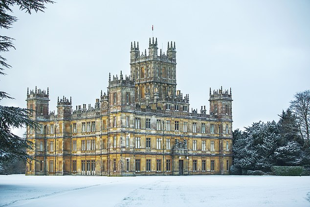 Stunning: The castle stands proud in the snowy grounds on a chilly winter's day