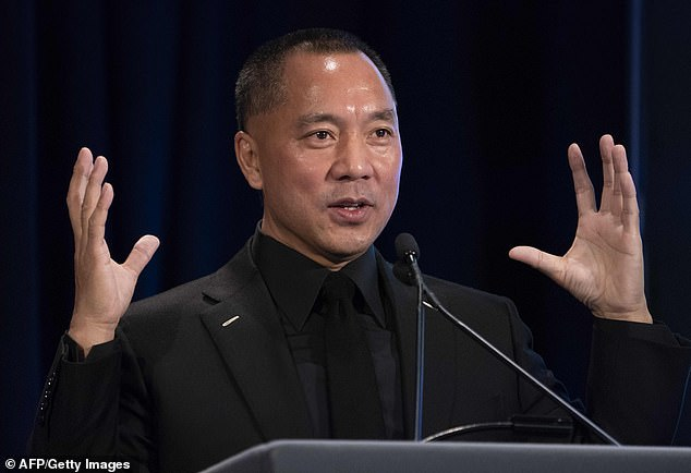 Stone wrongly accused exiled Chinese businessman Guo Wengui (pictured) of making illegal political donations to Hillary Clinton. Guo sued for $100million in March