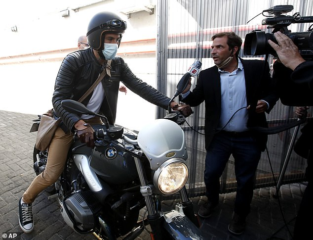Leopoldo Luque, Maradona's former personal doctor, leaves Olivos Clinic where late soccer star remained hospitalized after undergoing an operation in Buenos Aires earlier this month