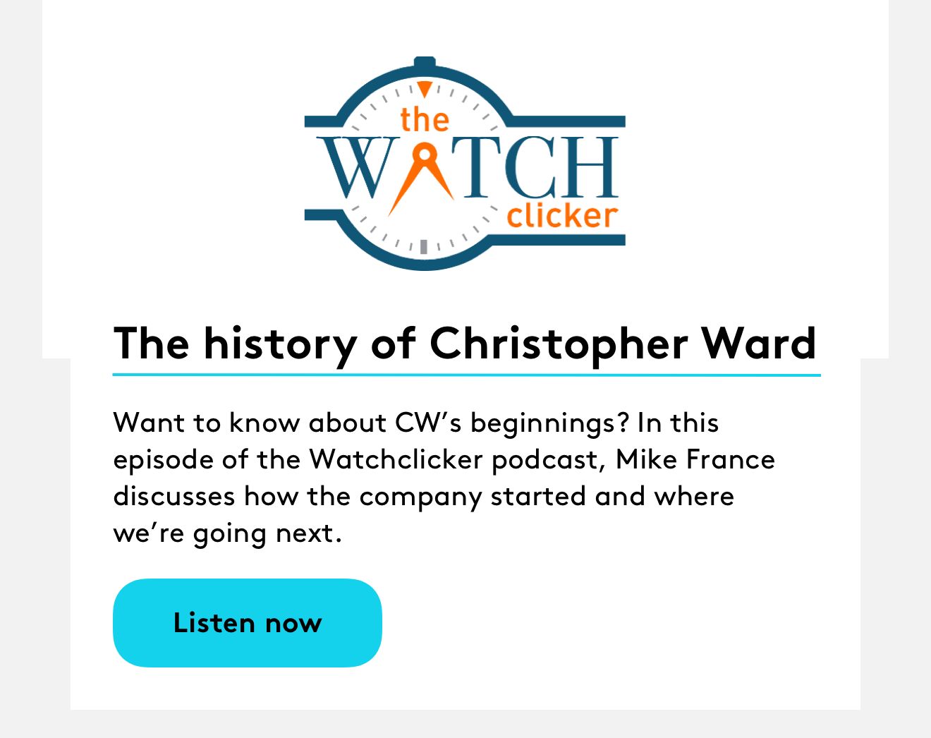 The history of Christopher Ward