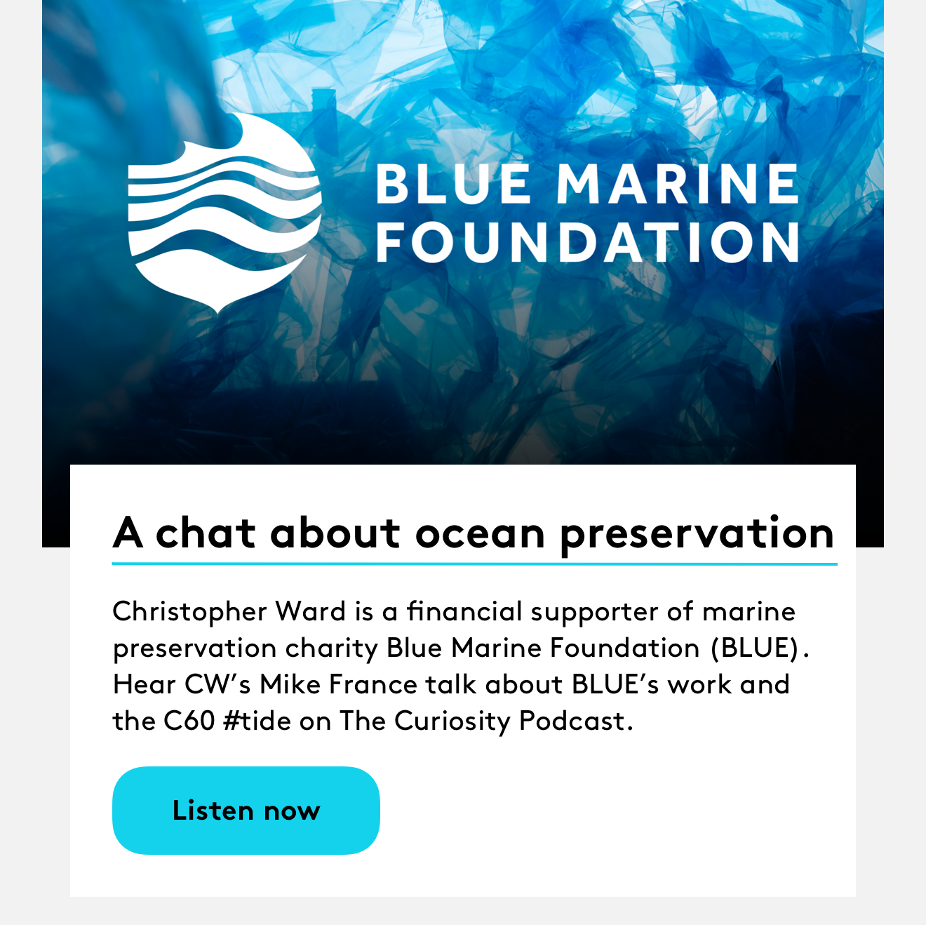 A chat about ocean preservation