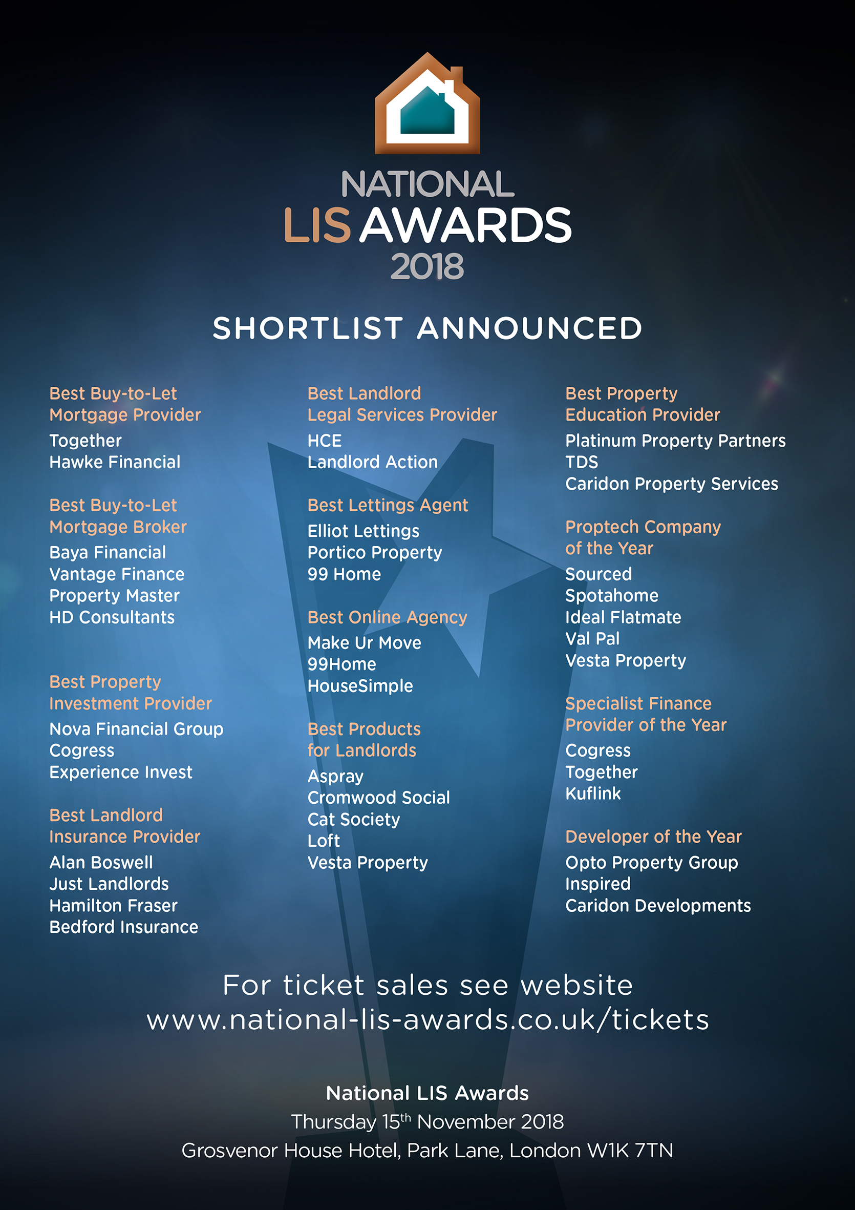 National LIS Awards shortlist announced!