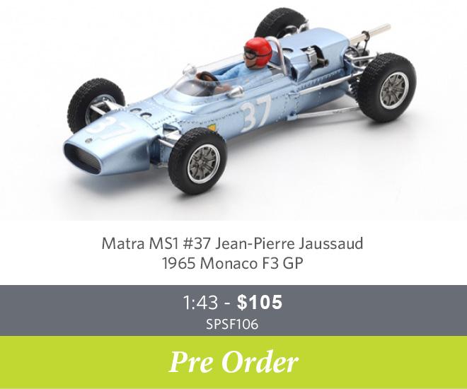 Matra MS1 #37 Jean-Pierre Jaussaud – 1965 Monaco F3 GP Ltd Ed. of 300 1:43 - $105 SPSF106 - Pre Order Now