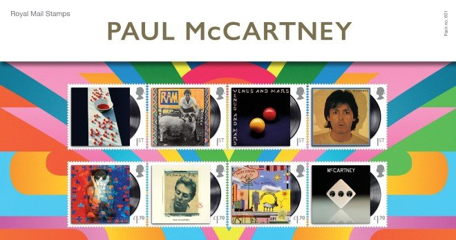 Photo of the Paul McCartney eight album stamp collection