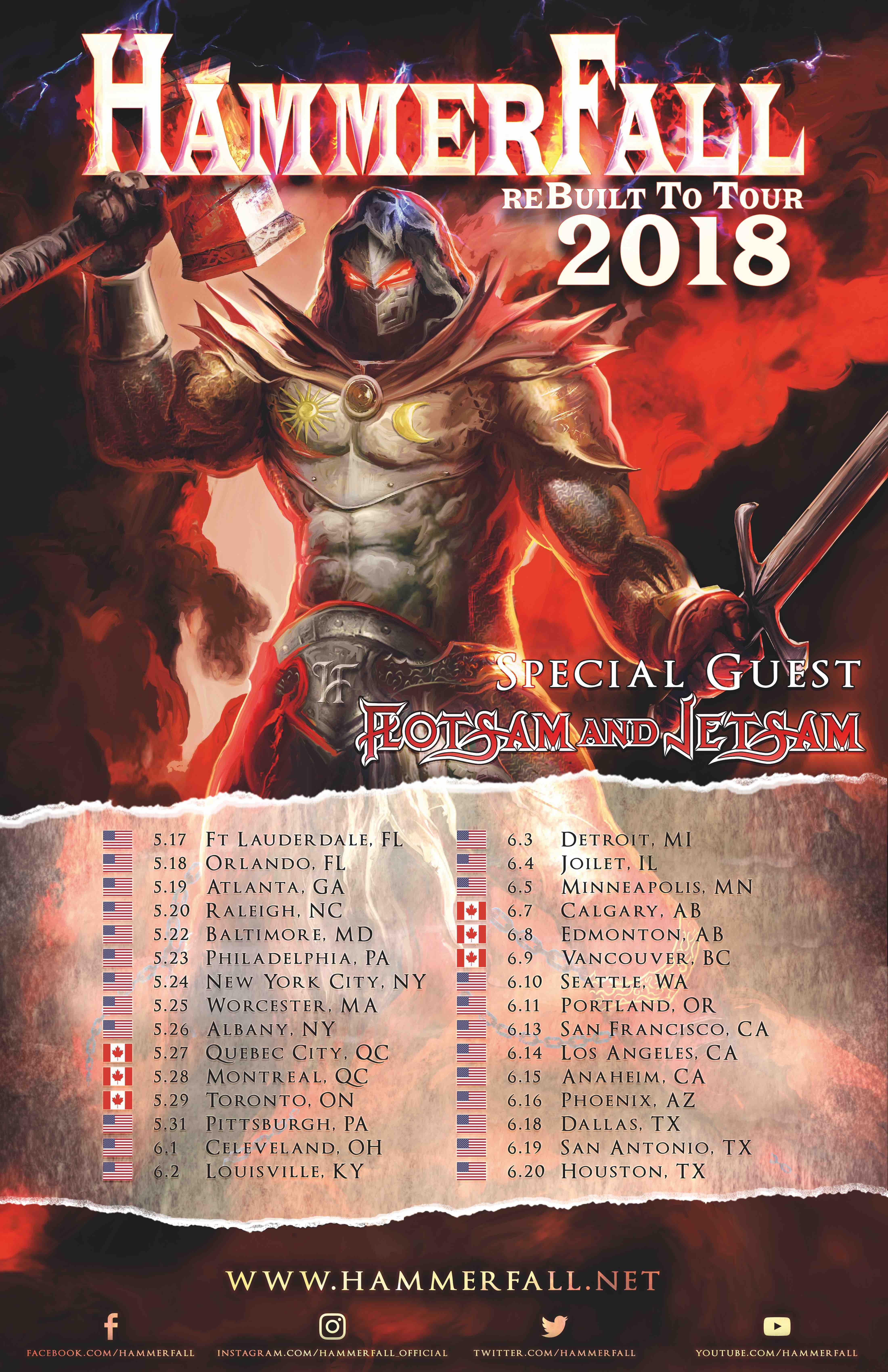 HAMMERFALL Kick Off North American Tour Tonight - Side Stage Magazine