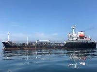 FILE PHOTO: An oil tanker is seen in the sea outside the Puerto La Cruz oil refinery in Puerto La Cruz, Venezuela July 19, 2018. Picture taken July 19, 2018. REUTERS/Alexandra Ulmer/File Photo