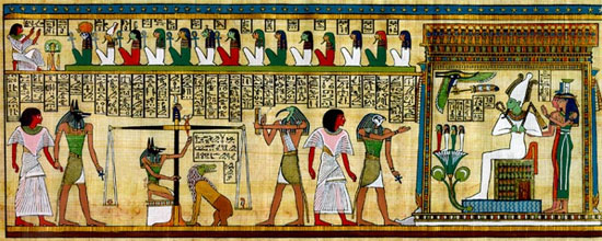 The feather is considered the symbol of the goddess Maat