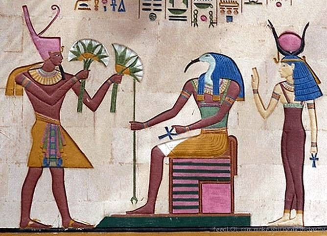 The lotus is a symbol of Upper Egypt and represents Isis's resurrection.