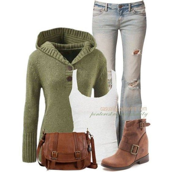 With skinny jeans and taller boots