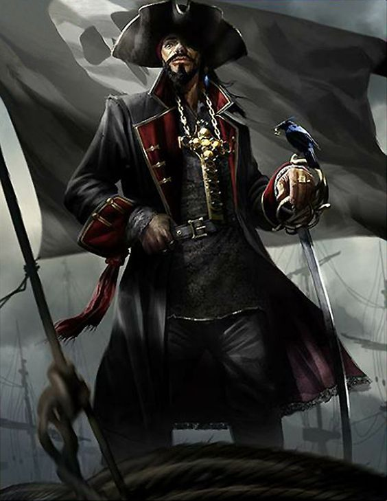 Artist: Joel Dos Reis Viegas aka feerik (Steambot Studios) - Title: Black beard the sanguinary reg - Card: Atrocious Admiral Henry