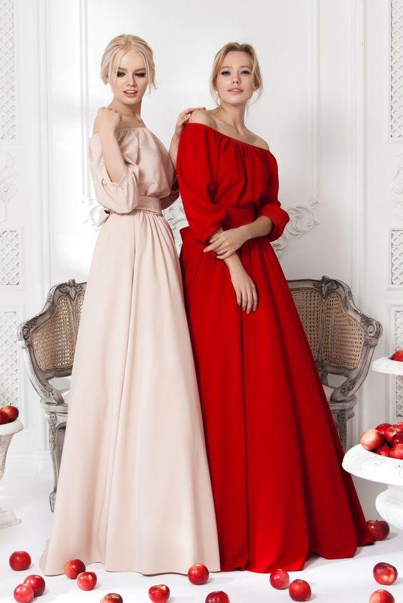 Платье «Маруся» беж— 24 990 рублей, Платье «Маруся» красное — 24 990 рублей