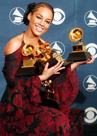 Image result for alicia keys 2002 grammy awards
