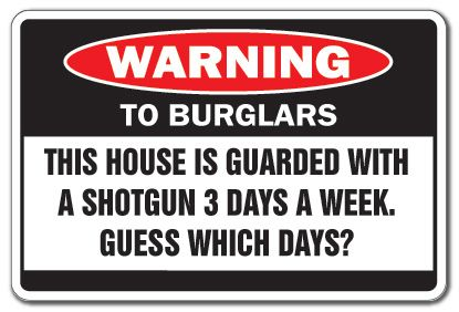 Image result for burglar warning signs
