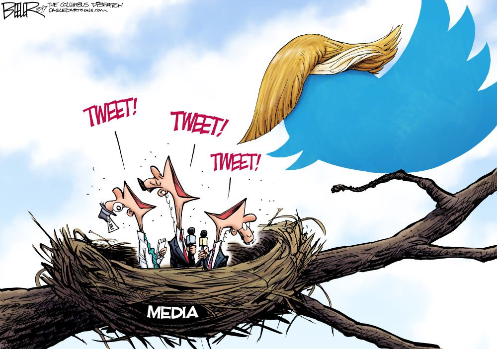 Image result for cartoons TRUMP TWEETS