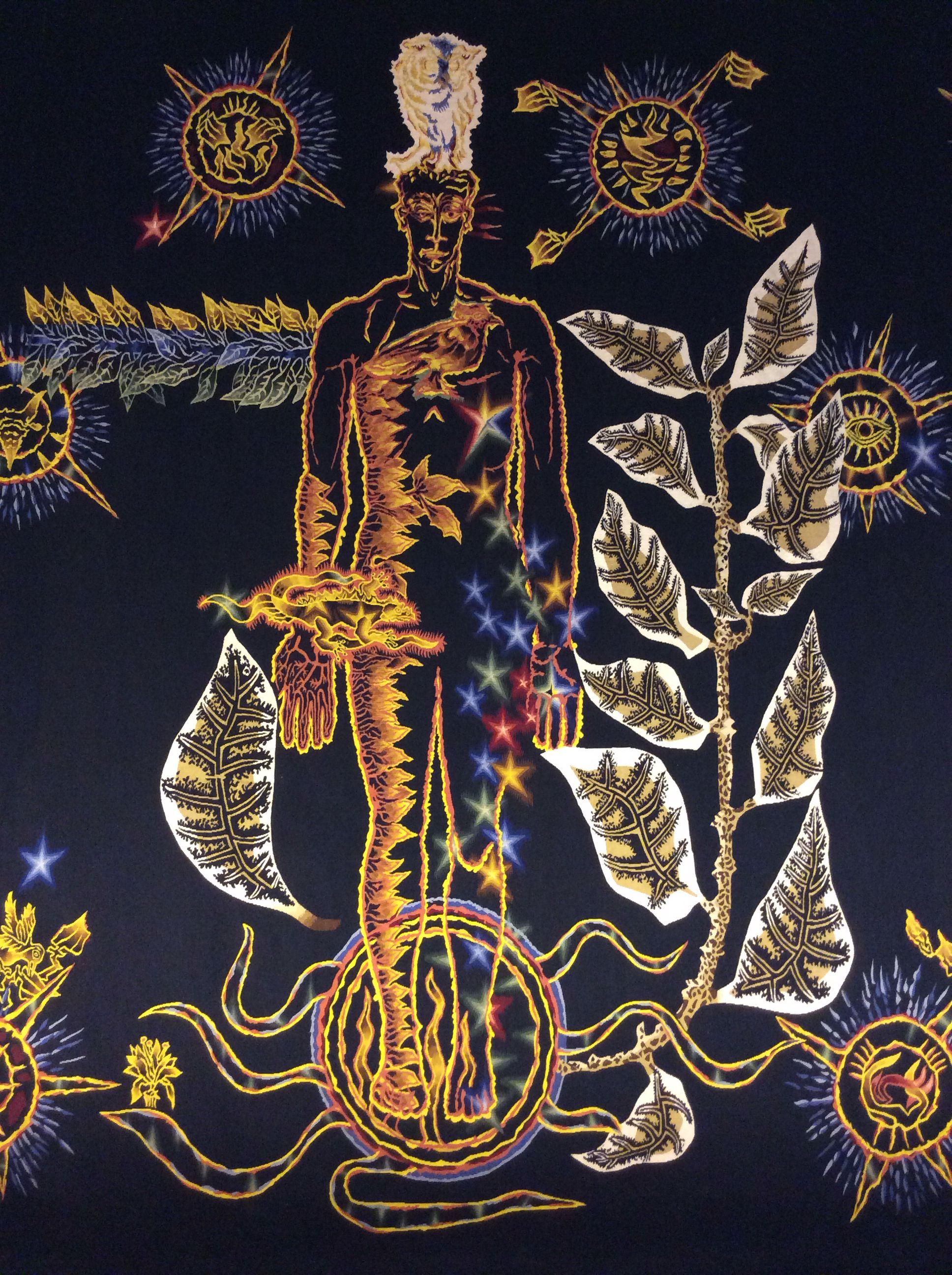 L'Homme en Gloire du Chant du Monde - La seconde         partie de ma tapisserie, qui débute d'ailleurs par une         trè… | Tapisserie aubusson, Tapisserie, Costumes de théâtre