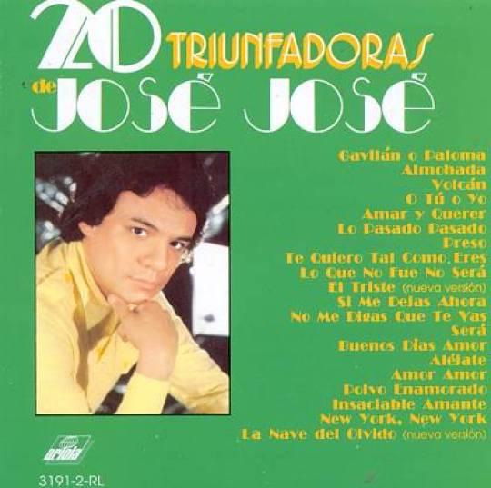 Los 10 álbums más vendidos en México de la historia - 20-triunfadoras-jose-jose