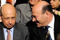 Gary Cohn, à droite, en compagnie de Lloyd Blankfein, patron de Goldman Sachs.