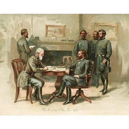 General Grant Accepts Lees Surrender 1865 Stretched Canvas - Science Source (36 x 24)