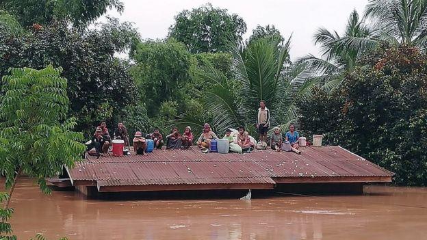 Một ngôi làng gần tỉnh Attapeu, Lào, ngày 24/7