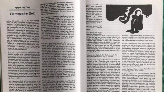 Bản dịch tiếng Đức truyện ngắn 'Vàng Lửa' đăng ở Berlin năm 1991