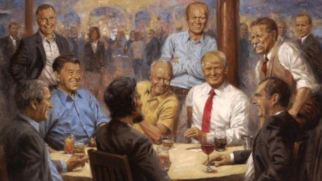 Image result for Bức ảnh ông Trump treo trong Nhà Trắng