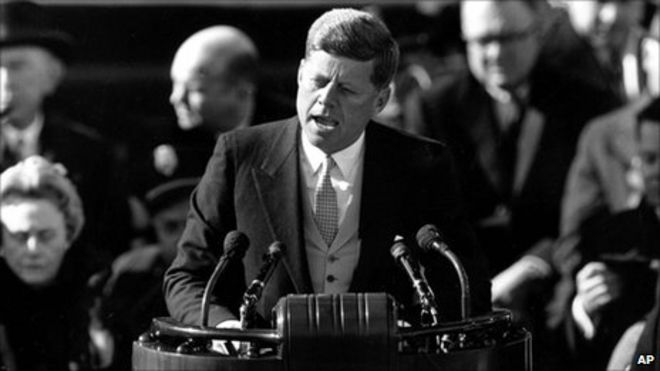 Image result for picture of JFK making his acceptance speech as president
