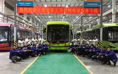 BYD rolls out its 50,000th pure electric bus