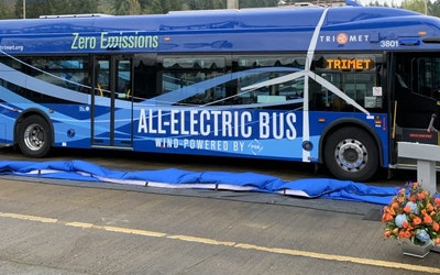 All electric buses powered by wind energy