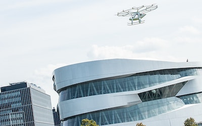 First urban flight of Volocopter in Europe