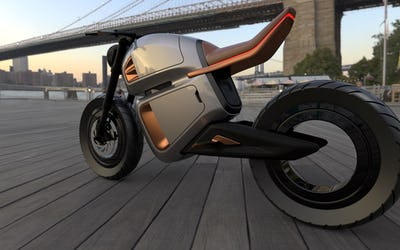 Hybrid Battery-Powered Electric Motorbike Concept