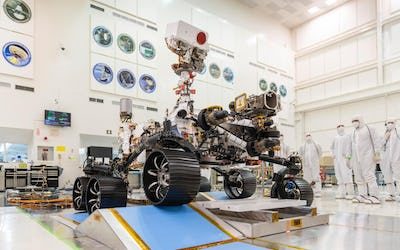 Mars 2020 Rover Completes Its First Drive