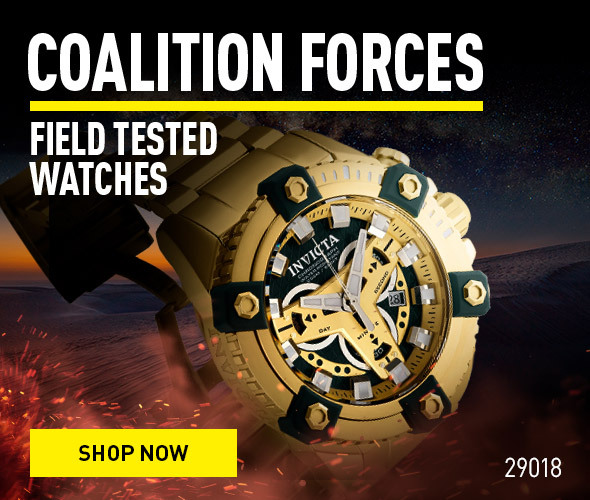 Coalition Forces. Field Tested watches.