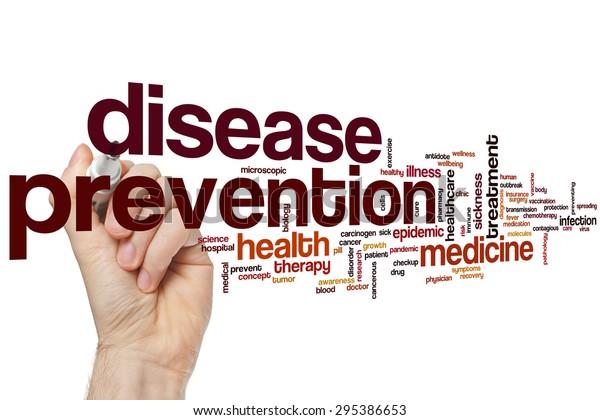 Disease prevention word cloud concept
