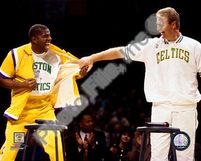 Image result for picture of larry bird and magic johnson together