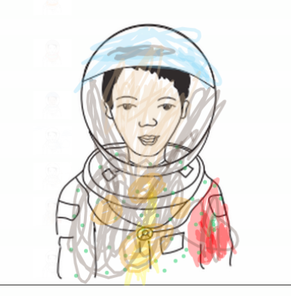 A student's Nearpod assignment related to Dr Mae Jemison the first African-American woman to go to space