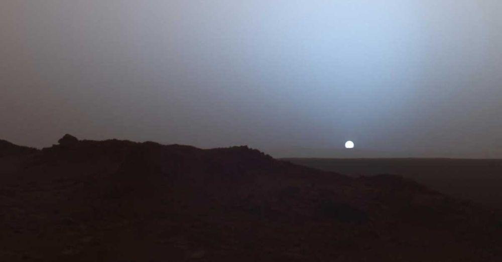 The Sun Sets on Mars