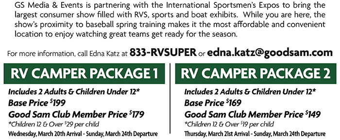 RV Camper Packages Available