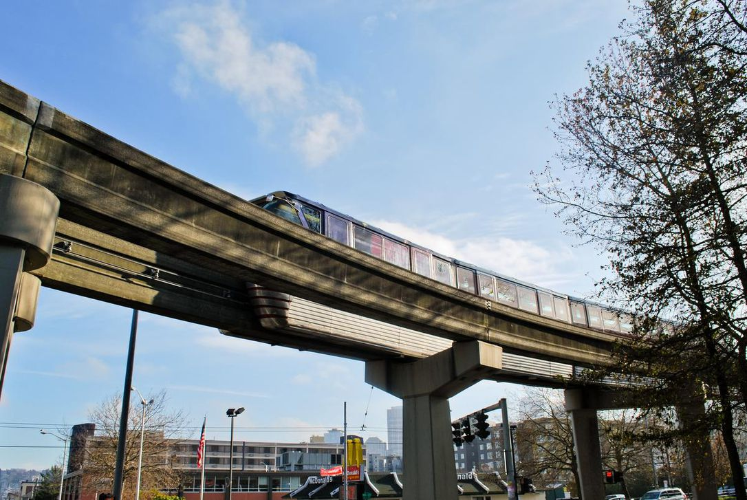 Seattle Center Monorail in Seattle, Wash.